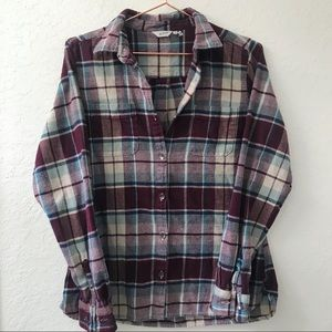 Woolrich Button Up Flannel Fig Size Small